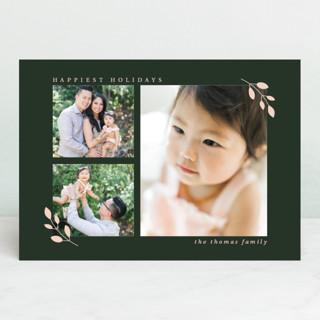 Sweet Foliage Holiday Photo Cards