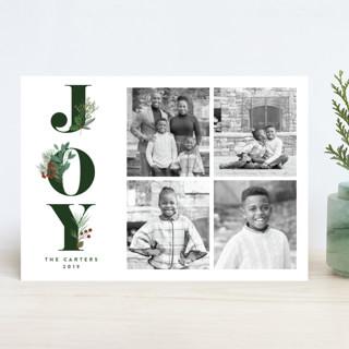 Joy Greenery Holiday Photo Cards
