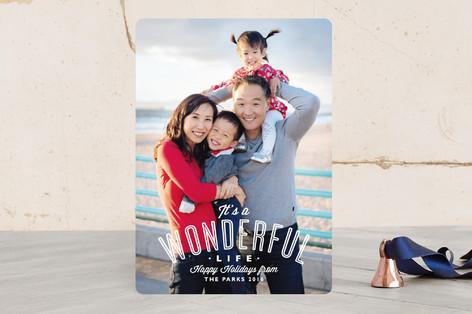 A Wonderful Life Holiday Photo Cards