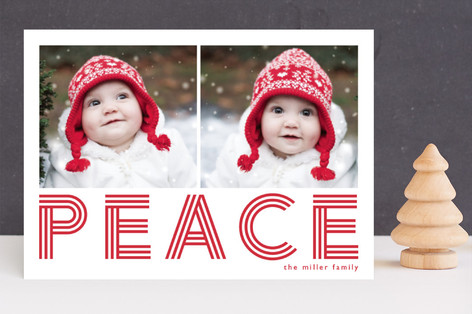 Geo Merry Holiday Photo Cards