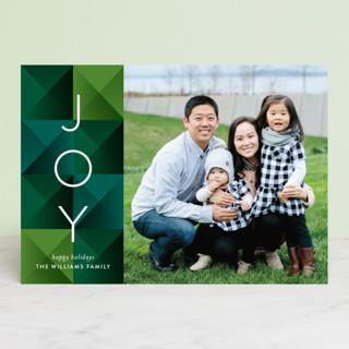 Geo Blocks Holiday Photo Cards