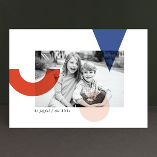 Deconstructed Joy Holiday Photo Cards