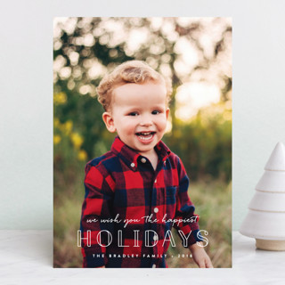 Outlined Holiday Photo Cards