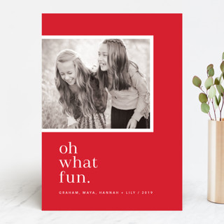 Oh So Modern Merry Holiday Photo Cards