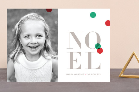 Bright confetti Holiday Photo Cards