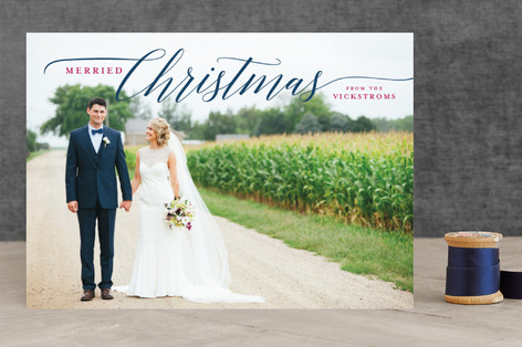 Married Christmas Couple Holiday Photo Cards