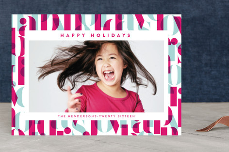 Bright Greetings Holiday Photo Cards