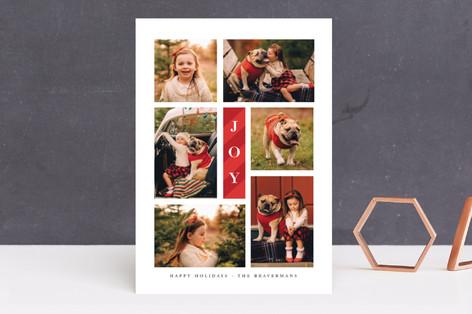 Candy Cane Joy Holiday Photo Cards