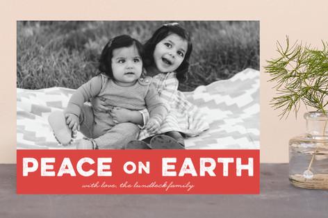 Bold Peace Holiday Photo Cards