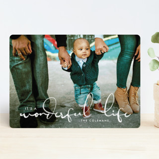 A Wonderful Script Holiday Photo Cards