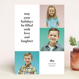 Bold Holiday Type Holiday Photo Cards