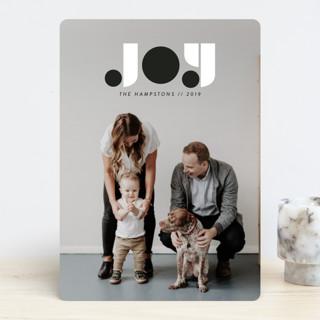 Typographic Joy Holiday Photo Cards