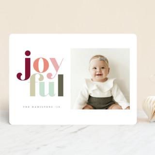 Festive joyful Holiday Photo Cards