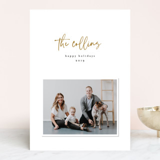 Modern Signature Holiday Photo Cards