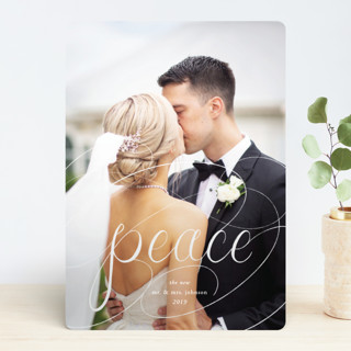 Peaceful Chalk Holiday Photo Cards