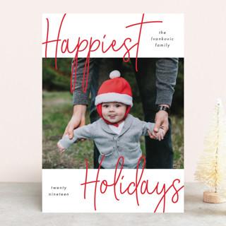 Happy Handwriting Holiday Photo Cards