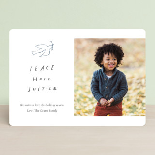 Peace Hope Justice Holiday Photo Cards