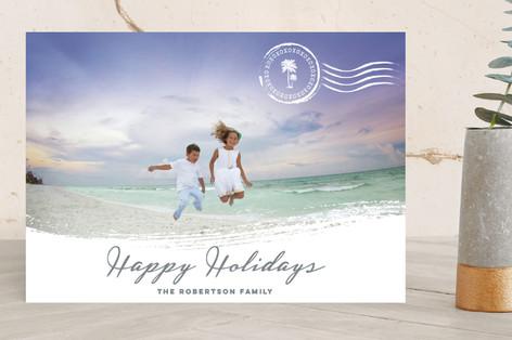 Beach Holiday Holiday Photo Cards