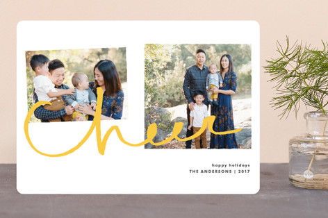 Cheer for Two Holiday Photo Cards