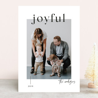 Very Modern Holiday Photo Cards