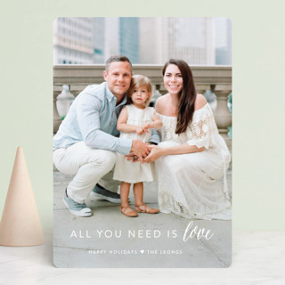 All You Need is Love Holiday Photo Cards