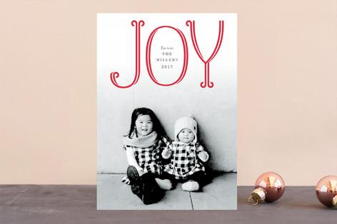 Flourished Joy Holiday Photo Cards