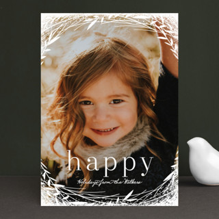 Lovely Wreath Holiday Photo Cards