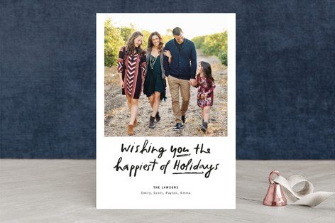 Painted Christmas Holiday Photo Cards