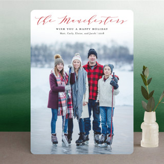 Modern Name Holiday Photo Cards