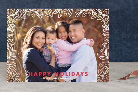 Gilded Foliage Holiday Photo Cards