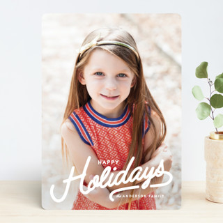 Vintage Christmas Script Holiday Photo Cards