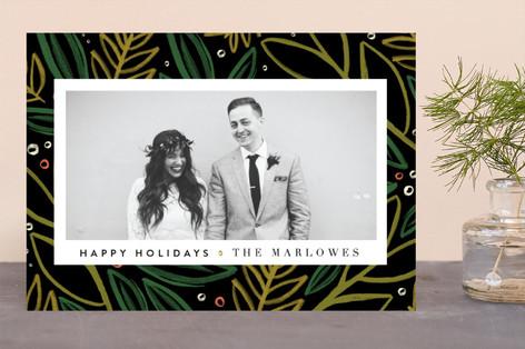 Festive Pine Holiday Photo Cards