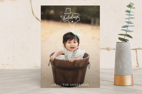 Texas love Holiday Photo Cards