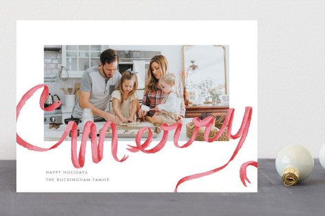 Merry Ribbon Holiday Photo Cards