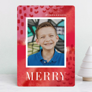 Bright Boho Holiday Photo Cards