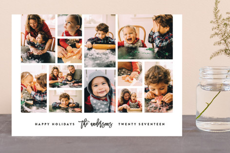 Collage Holiday Photo Cards
