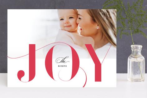 Sleigh filigree Holiday Photo Cards