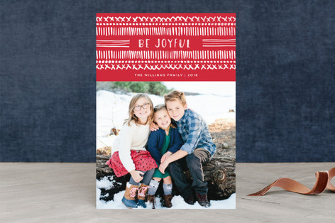 Dot and Dash Holiday Photo Cards