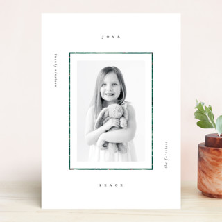 Modern Pine Frame Holiday Photo Cards