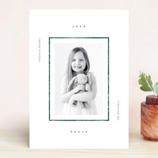 Modern Pine Frame Holiday Photo Cards