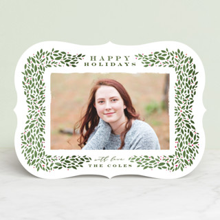 Framed Wreath Holiday Photo Cards