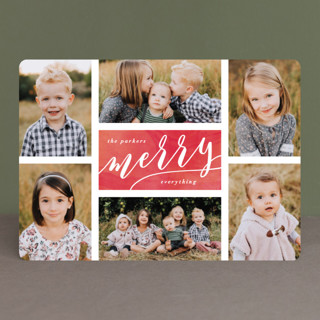 The Merry Six Holiday Photo Cards
