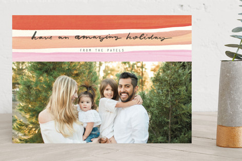 Paint and Stripe Holiday Photo Cards