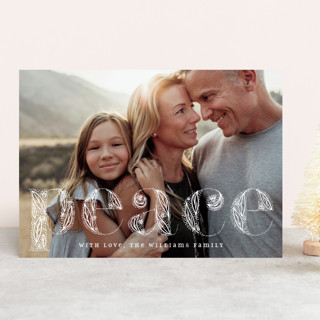 Ornate Peace Holiday Photo Cards
