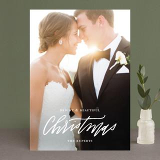 Newlywed Glam Holiday Photo Cards