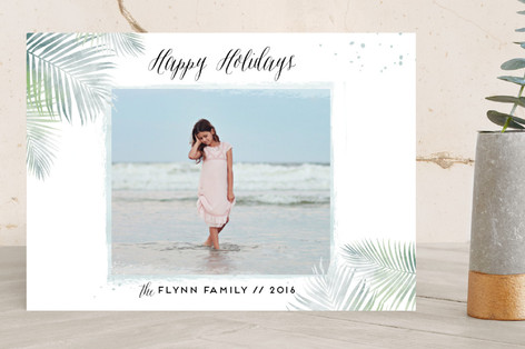 Sunny Christmas Holiday Photo Cards