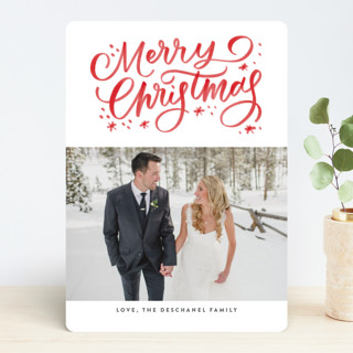 Christmas Watercolor Holiday Photo Cards
