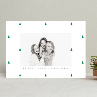 Preppy Little Trees Holiday Photo Cards
