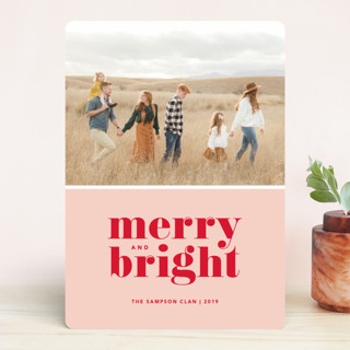 Cheerful Merry Holiday Photo Cards