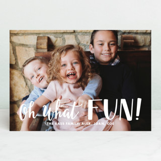 Hand Lettered Oh What Fun! Holiday Photo Cards